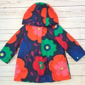 Girls Floral Rain Coat size 2T years baby gap